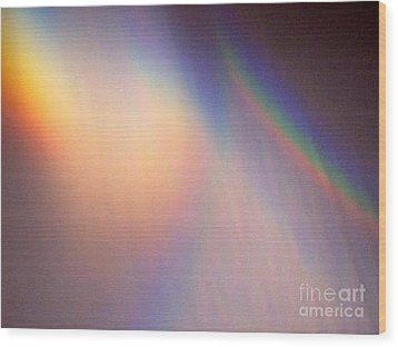 Water Rainbow Wood Print by Phyllis Kaltenbach