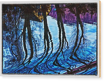 Water Spirits On Rhine Wood Print by Rick Bragan