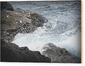 Water Splash Wood Print by Kevin Flynn