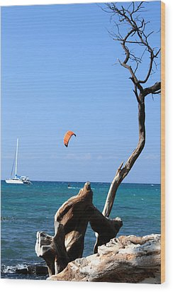 Water Sports In Hawaii 2 Wood Print by Karen Nicholson