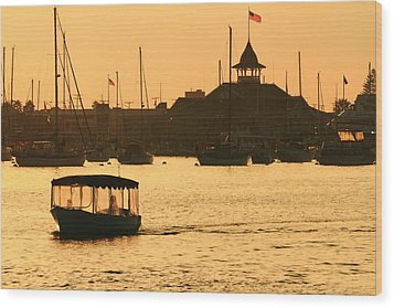 Water Taxi Wood Print by Coby Cooper