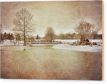 Wood Print featuring the photograph Water Under The Bridge by Mary Timman