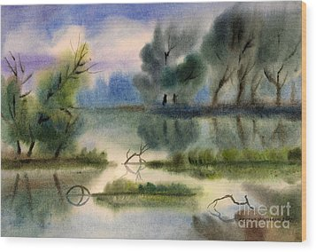 Water View Landscape Wood Print by Cristina Movileanu