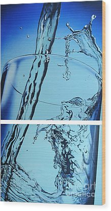 Water2heal Wood Print by Rob Courtenay
