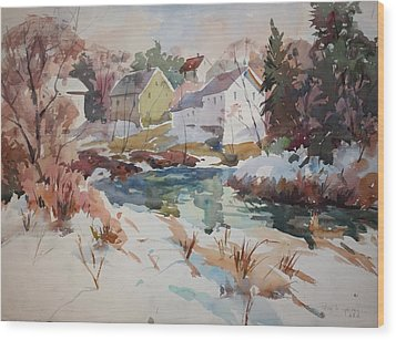 Watercolor Wood Print by Peter Spataro