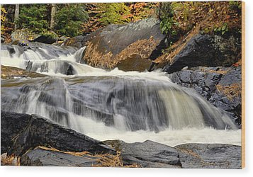 Waterfall Wood Print by Douglas Pike