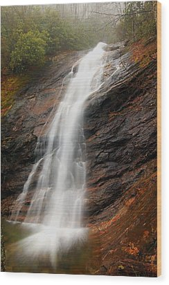 Wood Print featuring the photograph Waterfall In Wash Hollow by Doug McPherson
