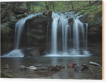 Wood Print featuring the photograph Waterfall On Flat Fork by Daniel Reed