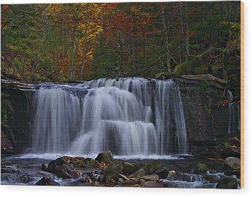 Waterfall Svitan Wood Print