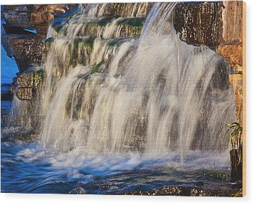 Wood Print featuring the photograph Waterfalls by Josef Pittner