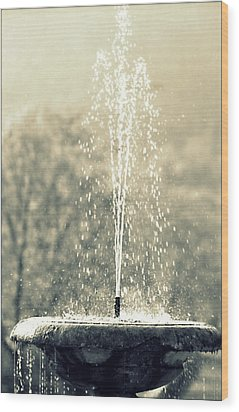 Wood Print featuring the photograph Waterfountain by Emanuel Tanjala