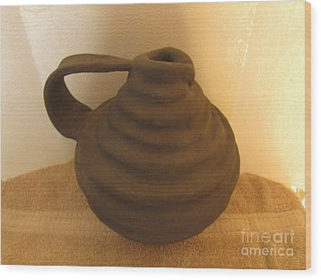 Watering Vase Wood Print by Christina Perry
