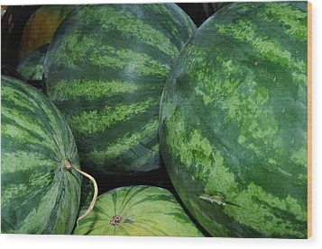 Wood Print featuring the photograph Watermelon by Diane Lent