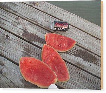 Watermelon Rinds Wood Print by Charles Weinacker