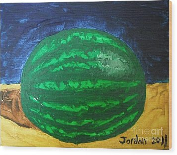 Watermelon Still Life Wood Print by Jeannie Atwater Jordan Allen