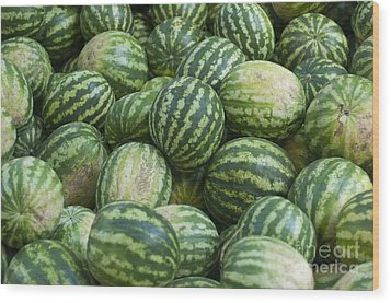Wood Print featuring the photograph Watermelons by Andrew  Michael