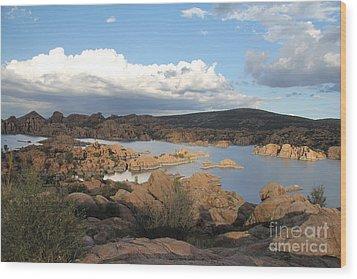 Watson Lake 2 Wood Print by Diane Greco-Lesser