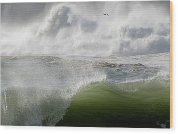 Wood Print featuring the photograph Wave by Barbara Walsh