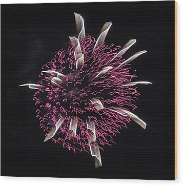 Wood Print featuring the photograph Waved Orb by Chris Anderson
