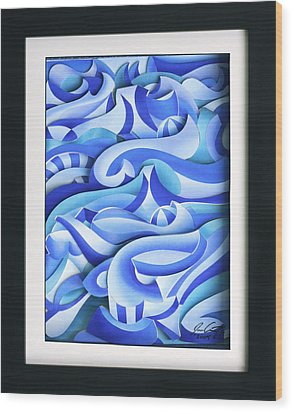 Waves 2 Wood Print by Jason Amatangelo