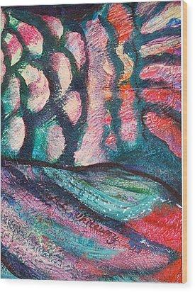 Waves And Scales Wood Print by Anne-Elizabeth Whiteway