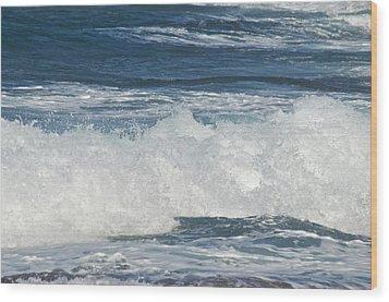 Waves Breaking 7964 Wood Print by Michael Peychich