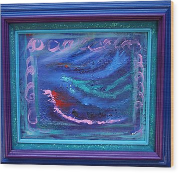 Waves Wood Print by Karin Eisermann