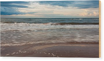 Waves Wood Print by Matt Dobson