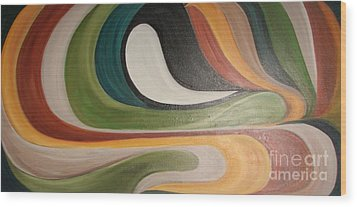 Waves Of Discontent Wood Print by Rachel Carmichael