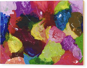 Wax Rainbow On Canvax Two K O One Wood Print by Carl Deaville