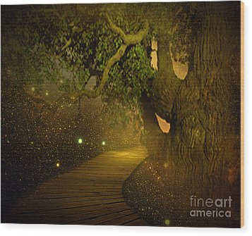 Way To Heaven Wood Print by Ester  Rogers