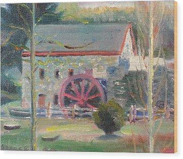 Wayside Inn Mill 2 Wood Print by Sid Solomon