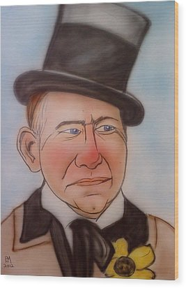 W.c. Fields Wood Print by Pete Maier