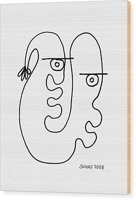 We Are One Wood Print by Suhas Tavkar