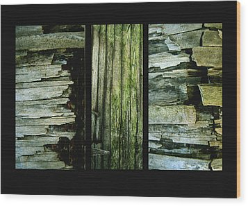 Weathered Wood Print by Ann Powell
