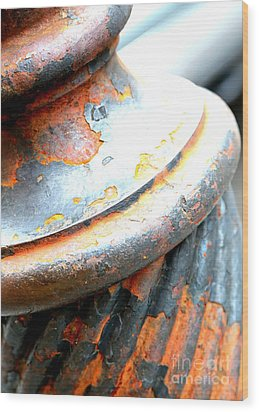 Weathered Column  Wood Print by Carol Groenen