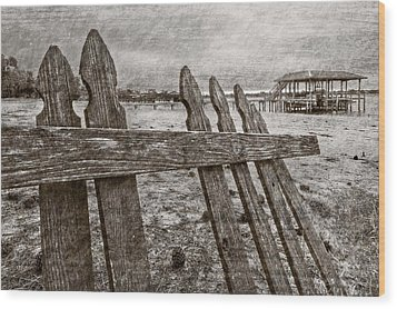 Weathered Wood Print by Debra and Dave Vanderlaan