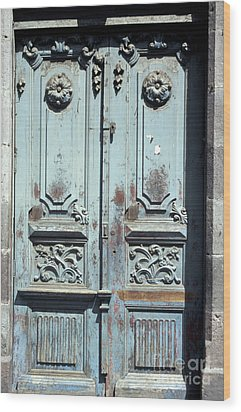 Wood Print featuring the photograph Weathered Quito Door Ecuador by John  Mitchell