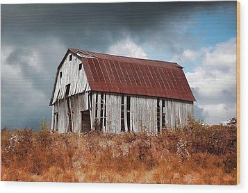 Wood Print featuring the photograph Weathering The Storm by Renee Hardison