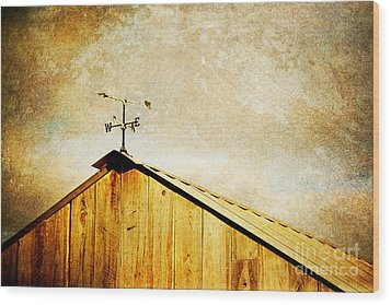 Weathervane Wood Print by Joan McCool