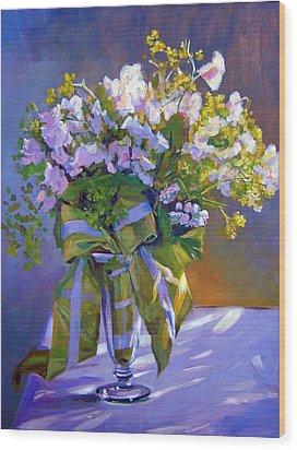 Wedding Bouquet Wood Print by David Lloyd Glover