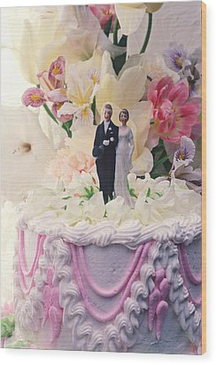 Wedding Cake Wood Print by Garry Gay
