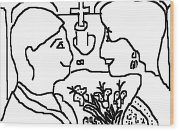 Wedding Day Wood Print by Anita Dale Livaditis