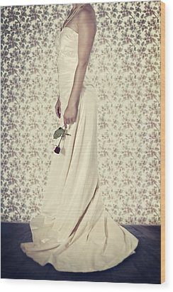 Wedding Dress Wood Print by Joana Kruse