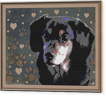 Wee With Love Wood Print by One Rude Dawg Orcutt
