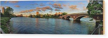 Weeks' Bridge Panorama Wood Print by Rick Berk