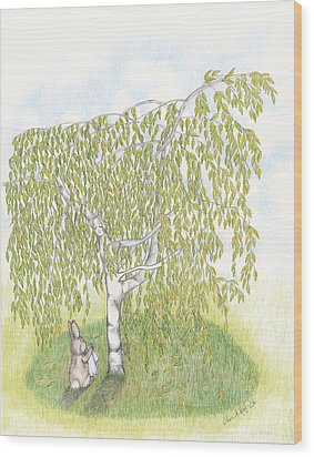 Weeping Birch Wood Print by Elaine Read-Cole