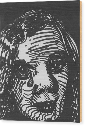 Weeping Woman Wood Print by Louis Gleason
