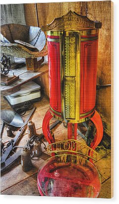 Weigh Your Goods - General Store - Vintage - Nostalgia Wood Print by Lee Dos Santos