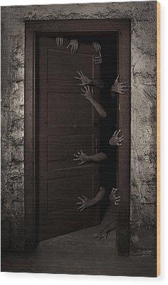 Welcome Wood Print by Aljaz Bezjak
